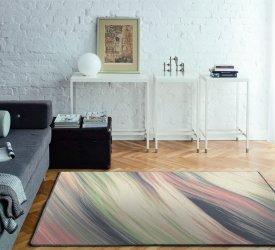 Nowoczesne wnętrze z nowoczesnym dywanem