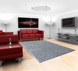 Dywan syntetyczny w nowoczesnym salonie