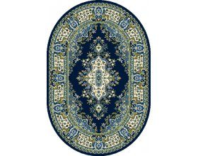 Dywany Niebieskie, granatowe Do salonu okrągłe, owalne