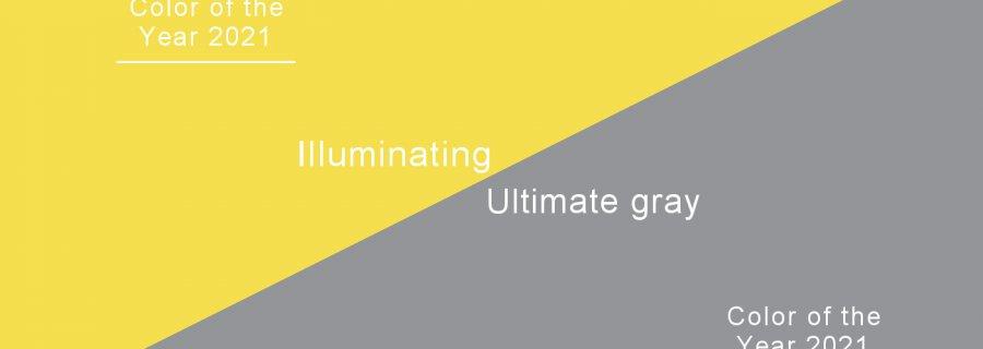 Pantone - Kolor roku 2021 - Ultimate gray i Illuminating