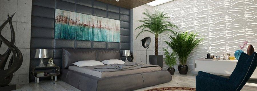 Owalny dywan w sypialni