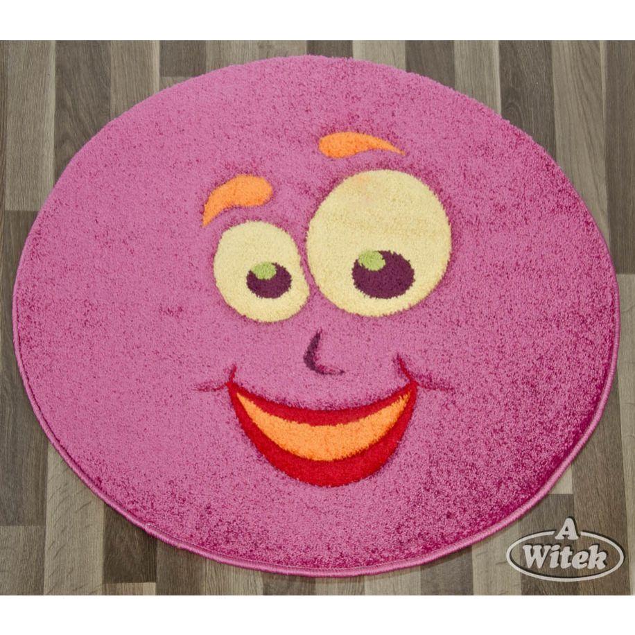 Dywan Do Pokoju Dziecięcego Juppi Carving 8f12a Pink Koło