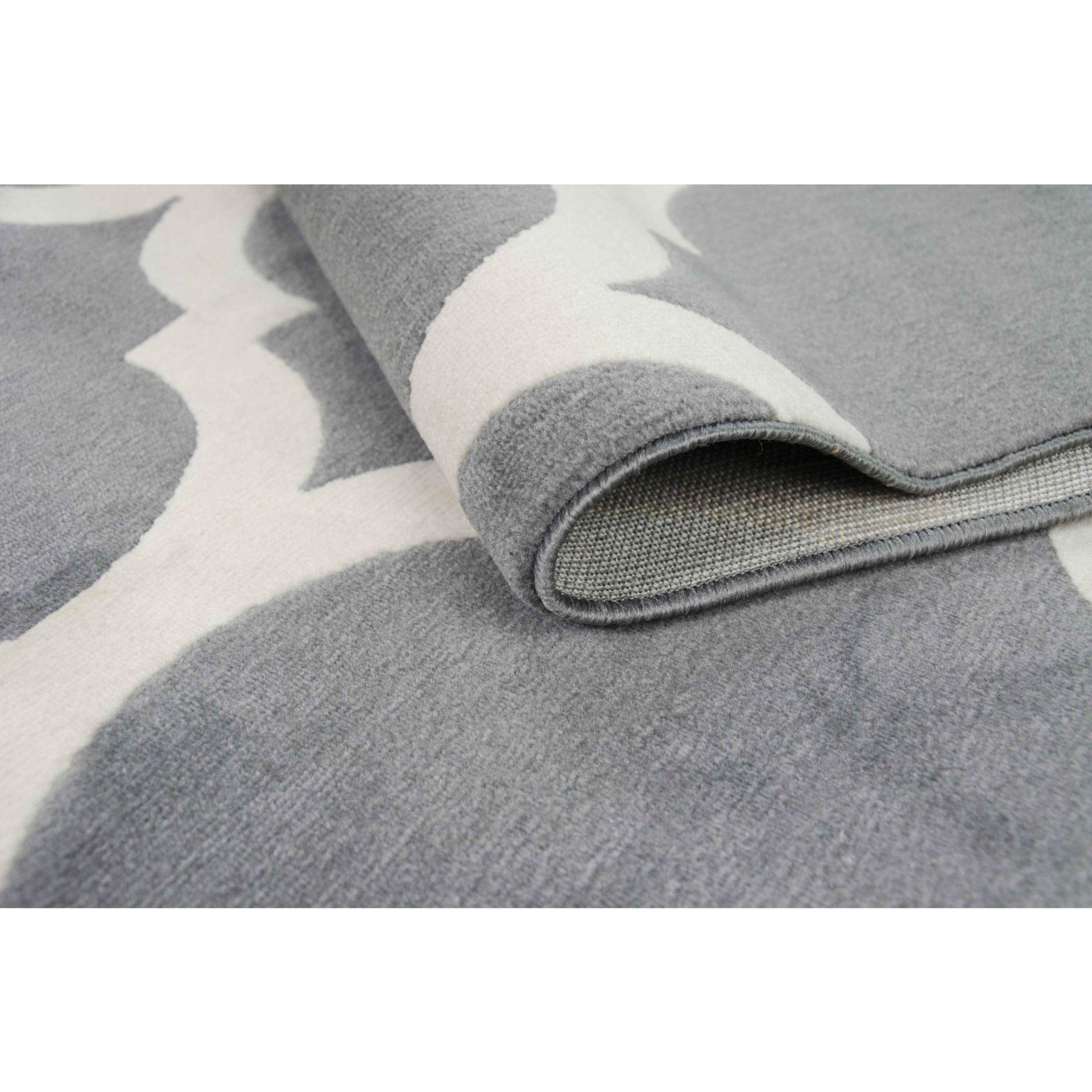 dywan nowoczesny canvas koniczyna maroka�ska szary sklep